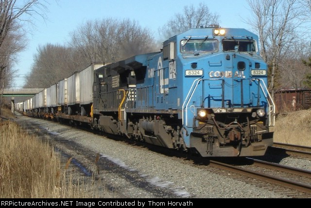 High noon as a NS intermodal, symbol unknown, passes CP 51
