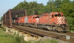 No holiday for CP 38T as it is eastbound on this Labor Day