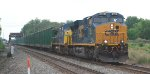 CSX Q702 has a consist of empty trash containers east on the LEHL