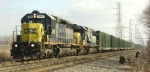 CSX Q707 rolls to a halt east of Port Rdg Jct to hold for Q300