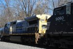 One of the NS leased ex-CSX serves as power on NS 18G