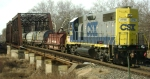 CSX MA80 is eastbound with 11 coilcars over CR's SA Lehigh Line