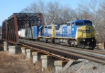 11 AM as CSX Q300 departs Manville yard with 42 cars in its consist