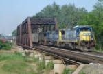 CSX Q300 is eastbound on CR's Shared Assets Lehigh Line