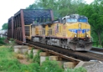 CSX Q300 heads east on track 2 on CR's Shared Assets Lehigh Line