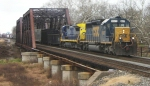 CSX Q300 heads east after working the yard