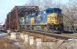 CSX Q410 heads east over CR's Shared Assets Lehigh Line at 9:30