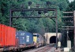 D&H CXOI-6 approaches the east Portal of Pattenburg Tunnel @ MP 64