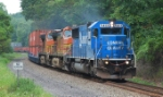 "NS 20G takes its intermodal consist thru the ""S"" curves"