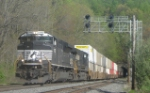 NS 20R is seen heading east on the Lehigh Line main at CP 64