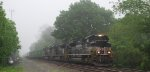 NS 212 takes MAIN 1 at CP SULLY on a misty and foggy morning