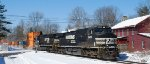 NS 22V passes by the former LVRR Depot near LEHL MP 48