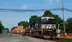 NS 9178 leads 22V past Lehigh Line MP 37's 13th St grade crossing