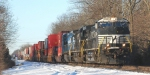NS 22V brings its consist of COFCs east over the Lehigh Line at 8:37