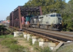It is 10:07 as NS 24V crosses the Raritan River