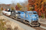 PRR 8363 (ex-CR 6133) brings NS 24V past MP 52 on the Lehigh Line