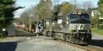 NS 24V passes through the Main Street grade crossing
