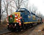 CSX 4403 NS 5294 CR 21241 Browns Yard Santa Train 2012