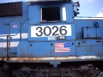 NS 3026 Number Close up
