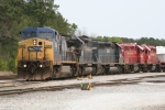 CSX 7880 with two Leasers and two US ARMY GP40s in Maxwell Yard