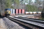 CSX 644 leads Q-199 south at Salak