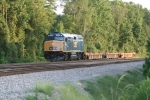 CSX 9998 (CSX X090-20) has one car, allowing it to travel at full track speed from Savannah to Greenwood.