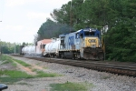 CSX 5886 pulls a weed-sprayer train through Salak