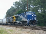 UP 7605 and CSX 409 southbound at Salak