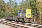 CSX 8763 pulls long hood forward on an Abbeville local