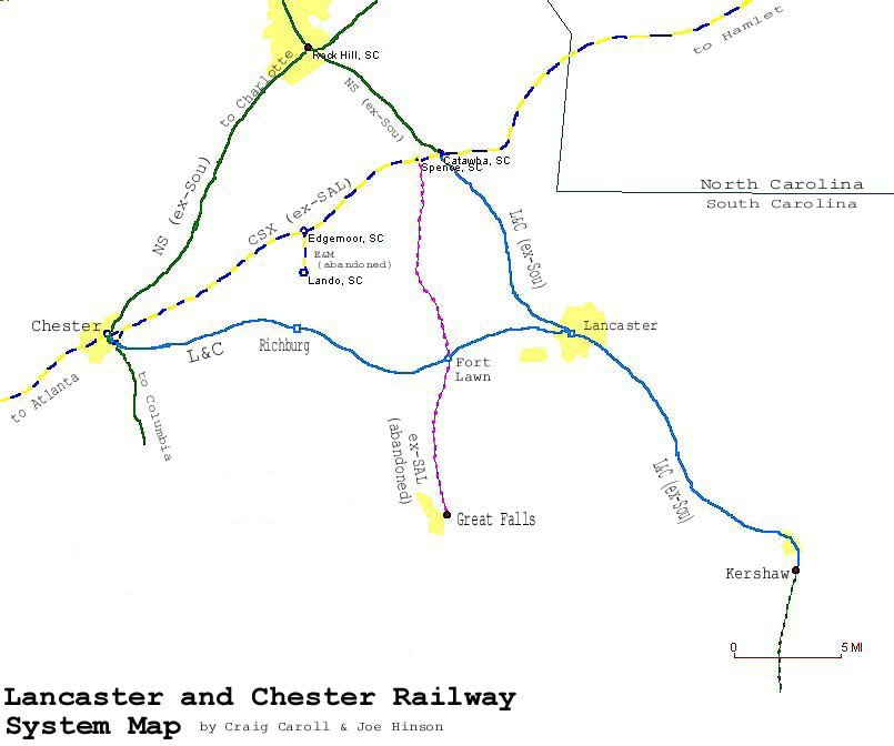 Lancaster and Chester Railway System Map
