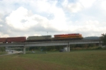 KCS 4713 leads 4707 over I-240