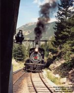 Georgetown Loop # 40 Soon to Cross Devil's Gate Bridge in 1991 (Sometime)