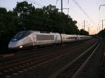Acela Express Locomotive Number 2011 Bursts Into Metropark Station