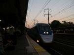 Acela Locomotive Number 2023 Leads An Express Train To Washington