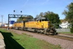 UP 3080 leads a Global 3 to CSX transfer