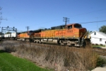 BNSF 5083 thunders towards House 9 with a Z train