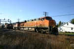 BNSF 7627 leads stacks