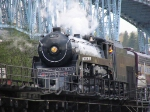 Royal Hudson 2860 crossing the Fraser River