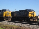 Two CSX coal trains at Ashland, KY