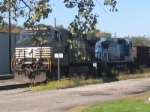 An NS train off of the riverfront