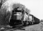 CR 6497 heads up this west bound LEHL train of empty coal hoppers