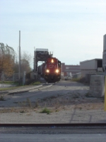 CN 4714 coming off the bridge