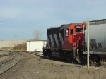 CN 4714 nearing entrance to ex-Chicago & Northwestern yard