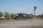 Norfolk Southern Railway Mixed Freight Train with three EMD Diesel Locomotives providing power