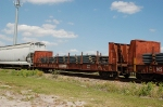 Norfolk Southern Railway (NS) Bulkhead Flat Car No. 111417