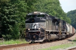 Norfolk Southern Railway (NS) Mixed Freight Train led by EMD SD70M-2 No. 2708