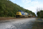 CSX 682 leads stacks on track 2