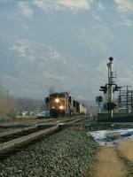 EB UP 5494 w/train