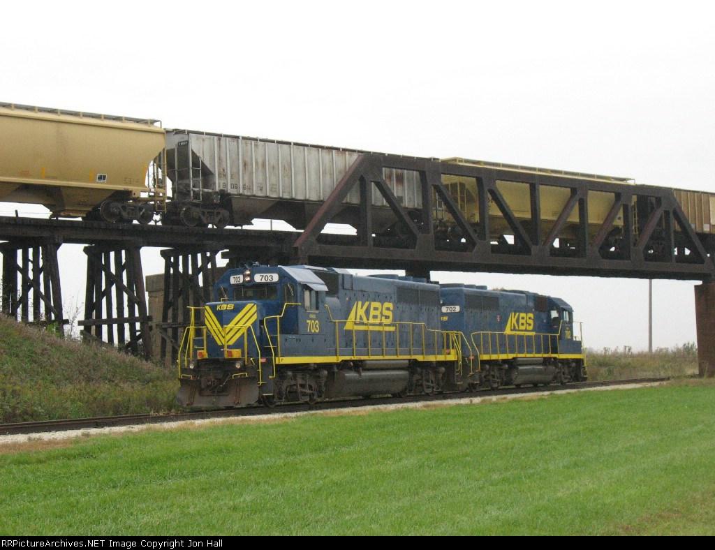 KBS 703 & 702 under the bridge