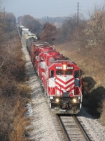 WSOR 4008 leads JC through the late autumn Wisconsin countryside